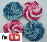 Spiral scrubbies crochet video from Naztazia