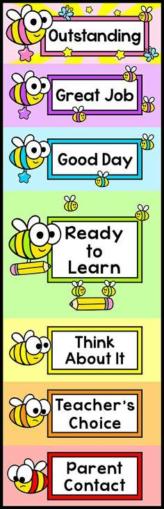 Keep Your Busy Bees On Track With This Bee Theme Behavior Clip Chart It Will Look Fantastic Classroom Wall By Pink Cat Studio Mas