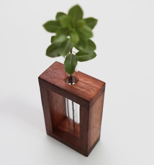 Lark & Owl - Single Test Tube Vase made from Jarrah $25