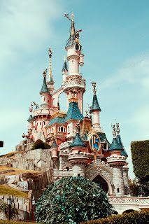 Disneyland Paris Castle vintage photo