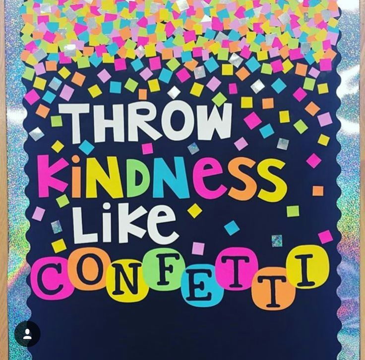 Interactive bulletin board idea- use post its and have residents write acts of kindness on them