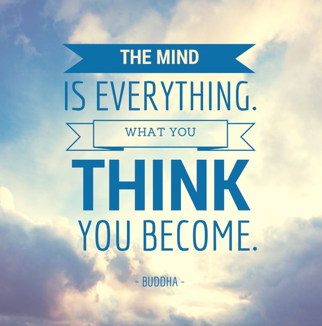 What you think you become. Are you helping or hindering your success?