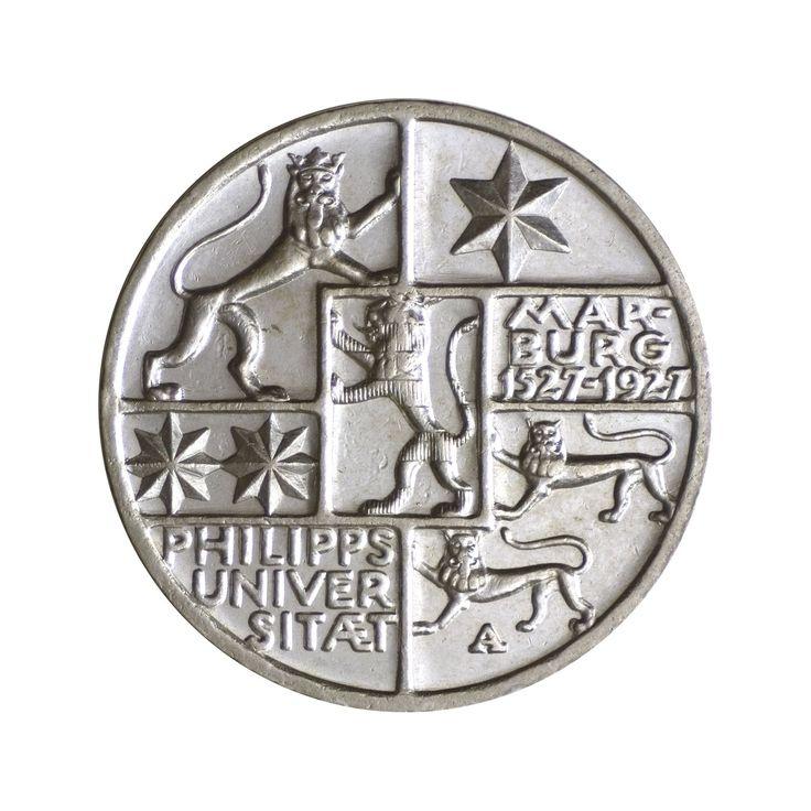Weimar Silbermünze 3 Reichsmark 400 J. Philipps-Universität Marburg 1927 J.330 in Münzen, Münzen Dt. Reich 1871-1945, Inflation & Weimarer Republik   eBay