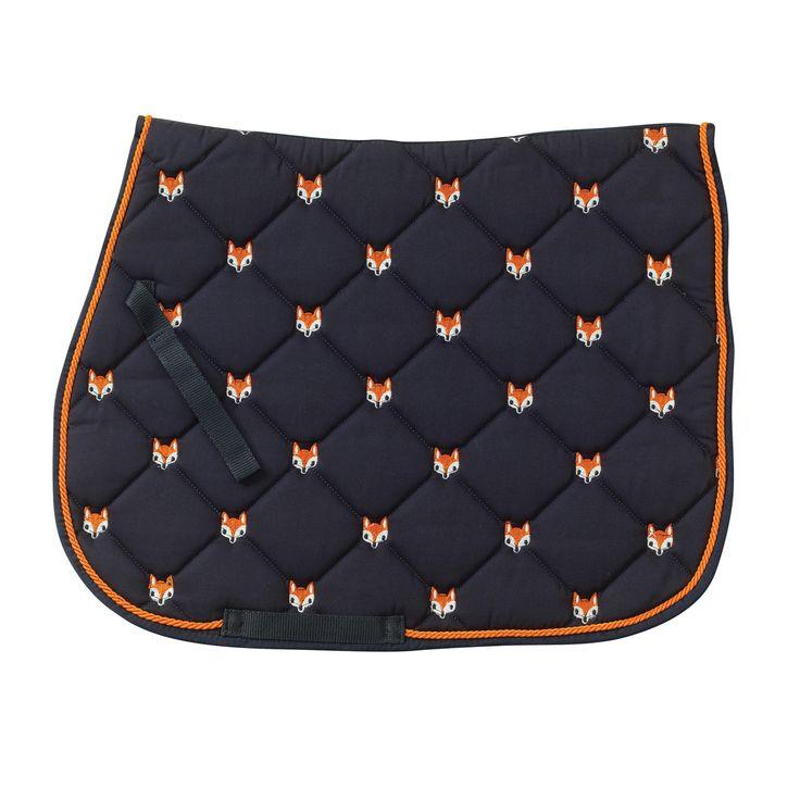 Fox All Purpose Saddle Pad - Black/Orange - Equus Now!