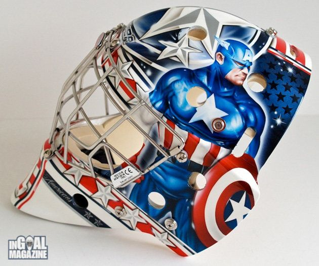 NHL Goalie Masks By Team | Comrie, Team Canada World Juniors hopeful, debuts Captain America mask ...