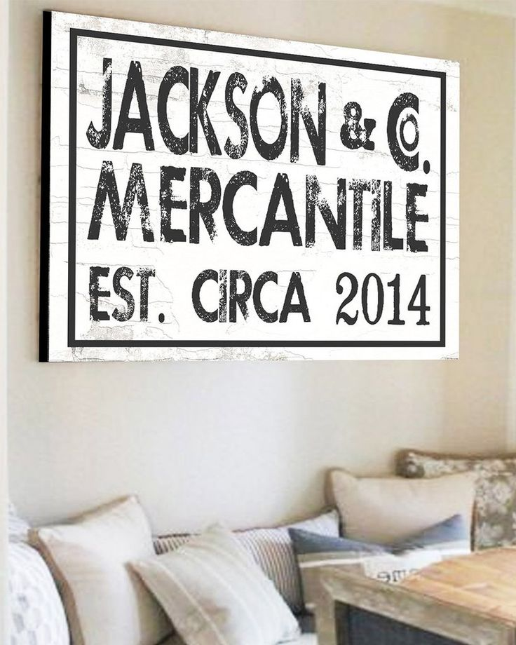 Est Family Name Sign   Custom Farmhouse Wall Decor