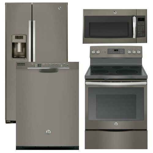 Kitchenaid 4 Piece Kitchen Appliance Package With Electric: 4 Piece Appliance Package