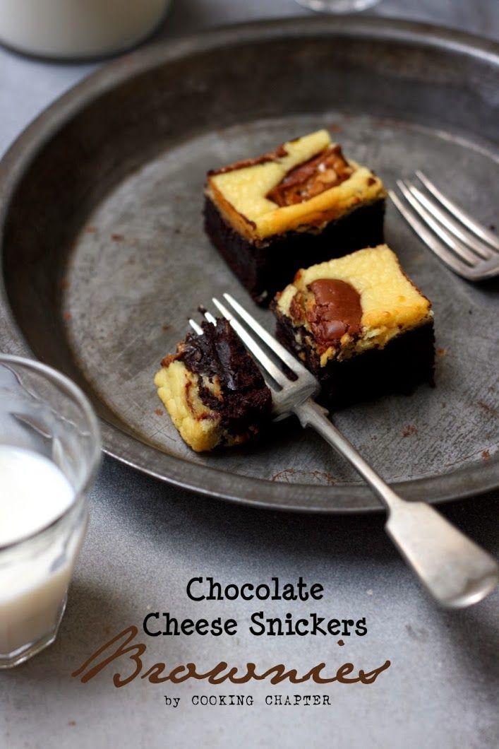 Chocolate Cheese Snickers Brownies by Tika Hapsari Nilmada