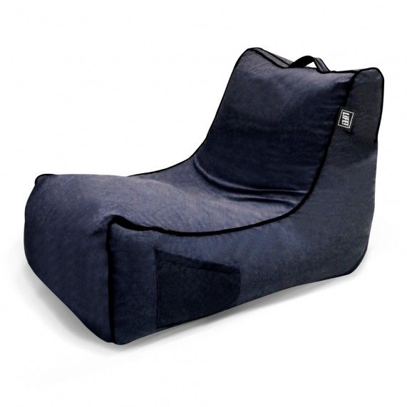 The Coastal Haven in Navy is a classic lounger shape with soft touch velour fabric, giving this stylish bean bag a warm indoor look. From lifeliveitup.com.au