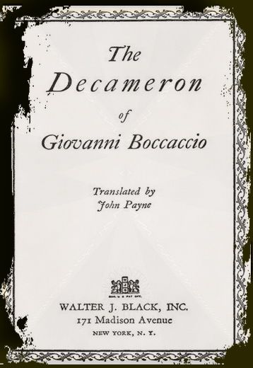 "Title page ""The Decameron"""