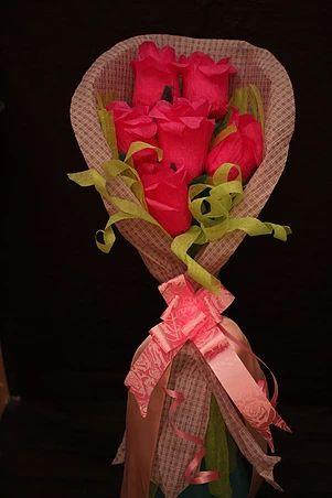 sukielanzafestas | flores de papel crepom com Bombom Sonho de valsa