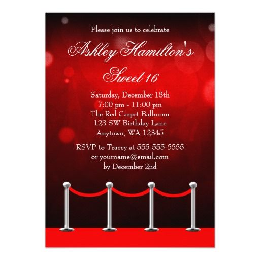 401 best Hollywood Birthday party Invitations images on Pinterest