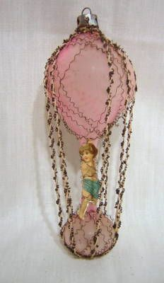Antique hot air balloon Christmas ornament            	  		Payment