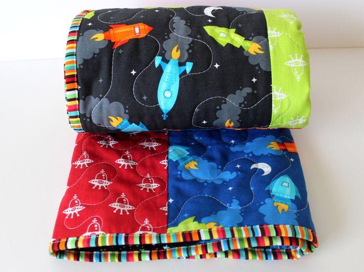 Baby Boy Quilt- Rocket Nursery Quilt- Boy Toddler Quilt- Rocket Bedding- Outer space Bedding- Outer Space Nursery- Homemade Baby Quilt by GoBeWonderful on Etsy https://www.etsy.com/listing/242304885/baby-boy-quilt-rocket-nursery-quilt-boy