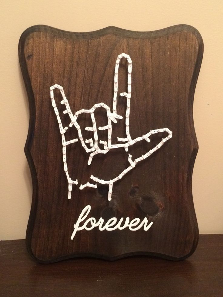 I Love You Sign Language string art.