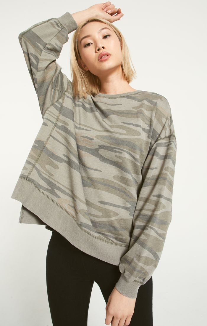 Modern Camo Weekender In 2020 French Terry Fabric Relaxed Style Comfy Sweatshirt