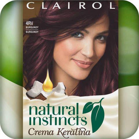 Clairol Natural Instincts Crema Keratina Hair Color - Burgundy 4RV : Target