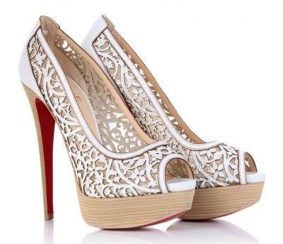 www.weddbook.com everything about wedding ♥ Christian Louboutin Wedding Shoes ♥ Chic and Fashionable Wedding High Heel Shoes   Yuksek Topuk Abiye Ayakkabi #lace