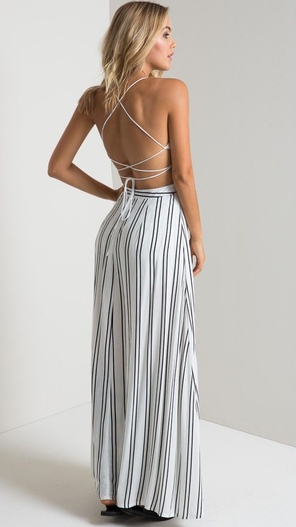 Folksong Maxi Playsuit in Ivory