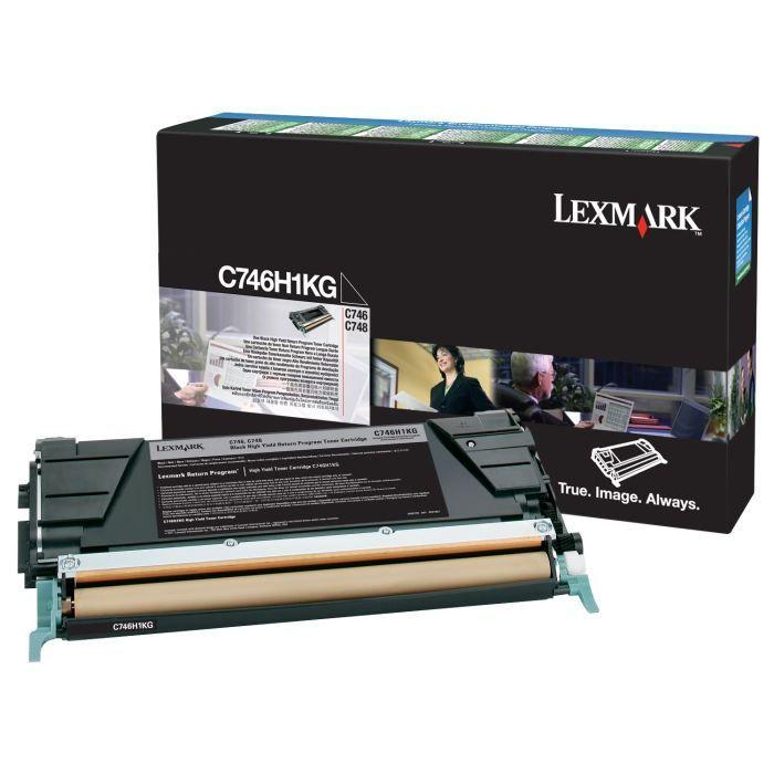 LEXMARK Cartouche de toner C746, C748 – Capacité standard 12.000 pages – Noir