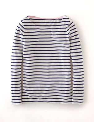 I've spotted this @BodenClothing Long Sleeve Breton Ivory/Navy   I wear this look over and over and maybe a little toooo much?