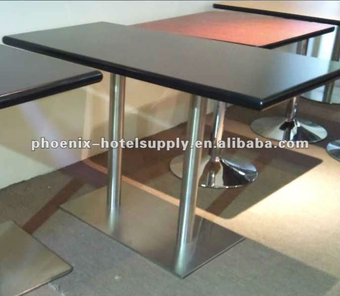 Restaurant Table With Granite Table Top,Stainless Steel Base - Buy ...