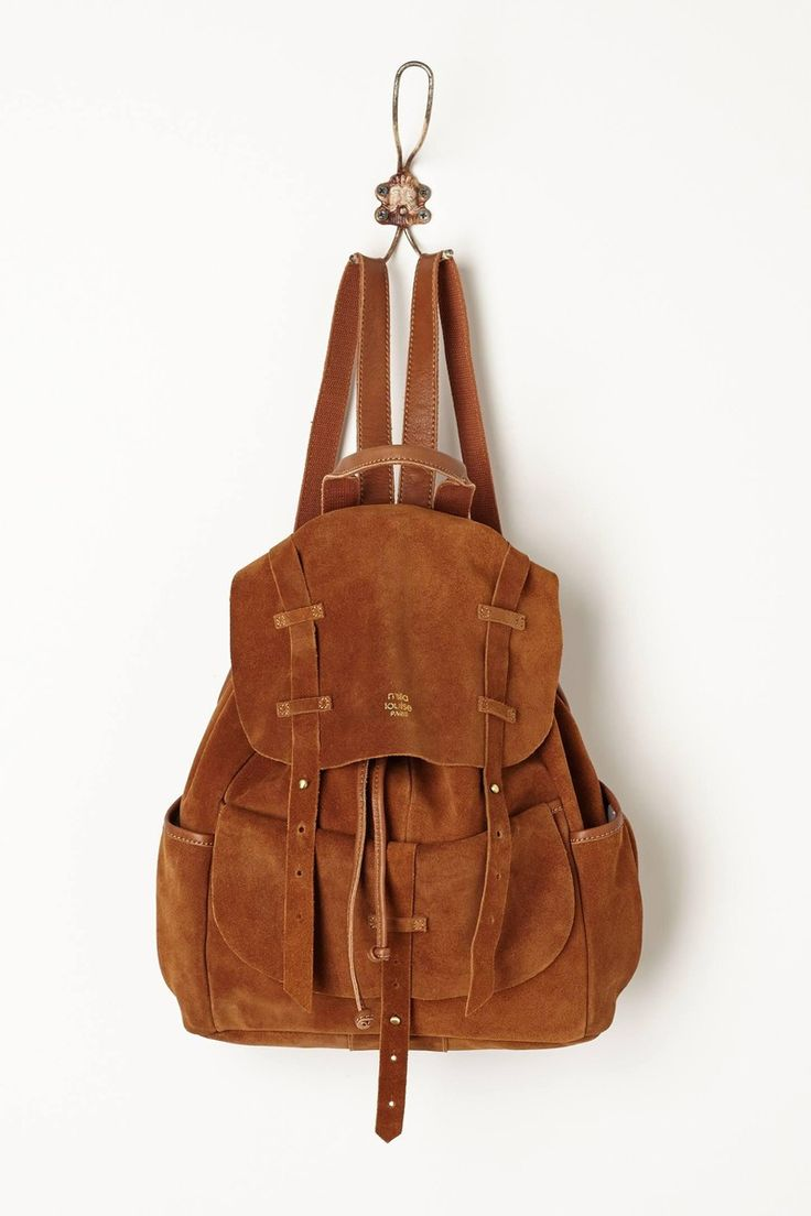Anthropologie  Veldt Suede Backpack