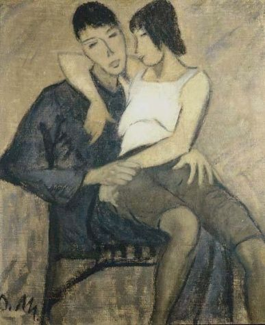 Otto Müller, Seated Couple, 1920