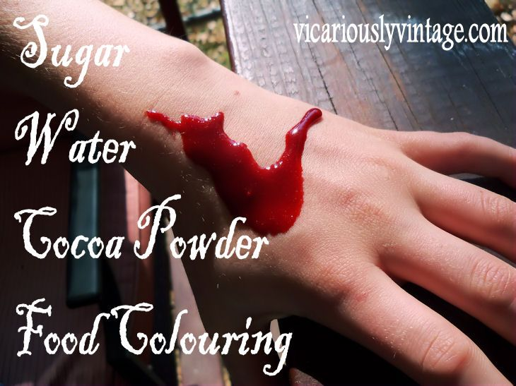 Make Your Own Homemade Fake Blood
