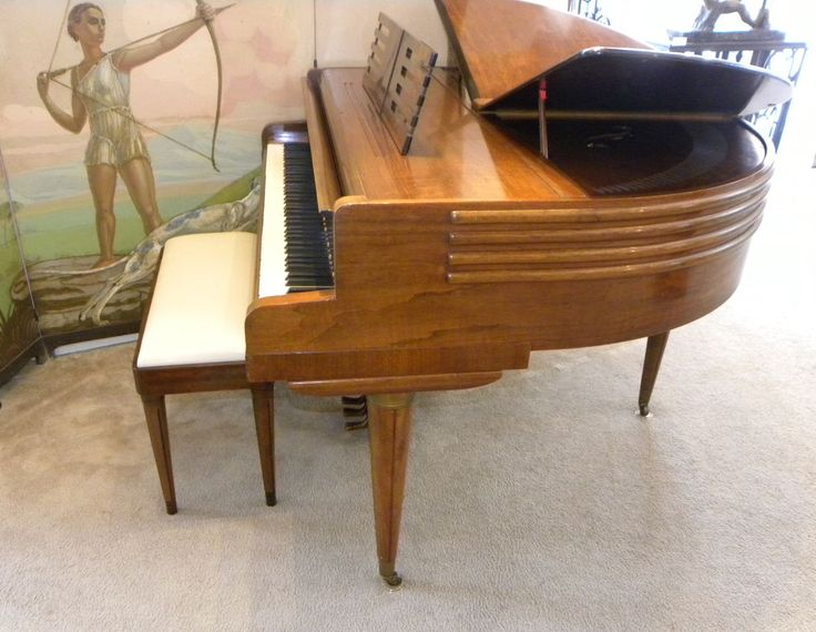 1937 Streamline Art Deco Butterfly Wurlitzer Baby Grand Piano - Miscellaneous - ArtDecoCollection.com