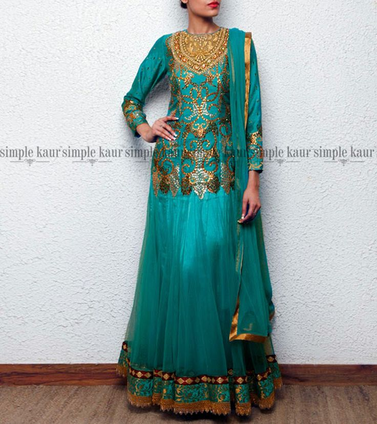Let's make this an 'Aqua Blue Monday'. This one from my #pastcollection charmed as much with its color as it did with the gotta patti work and regal cut.  Take a closer look at http://www.simplekaur.com/Past-Collections/Aqua-blue-embroidered-anarkali-one-piece-dress-id-2572192.html