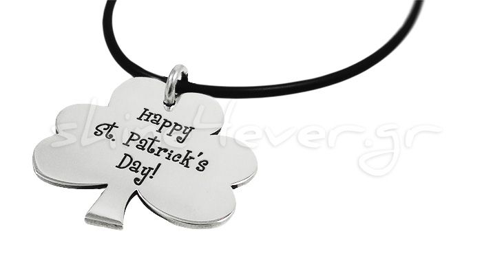 Saint Patrick's Day Silver Pendant. By shine4ever.gr.