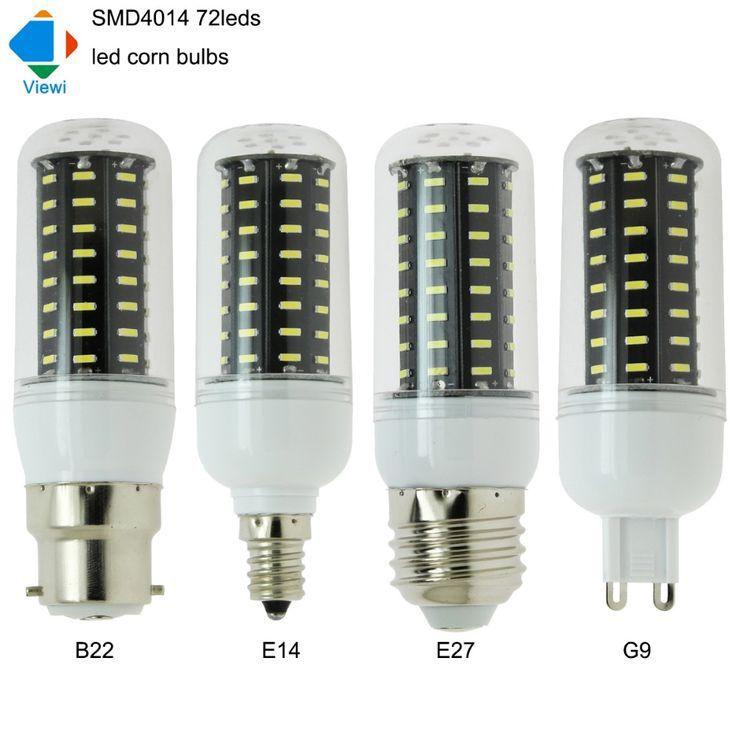 5X lampada e27 led bulb B22 E12 E14 G9 corn bulbs lamp smd4014 72leds 110 220 volt home lighting black pcb energy saving lampen #Affiliate