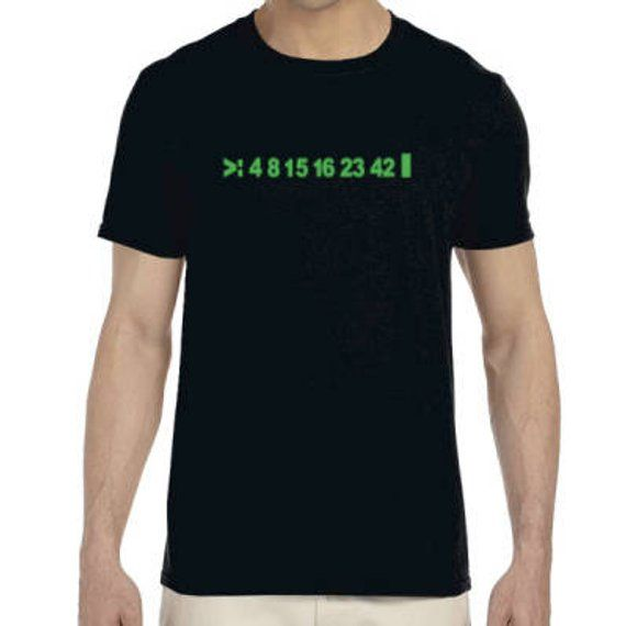 Lost T Shirt Numbers Lost Tv Show 4 8 15 16 23 And 42