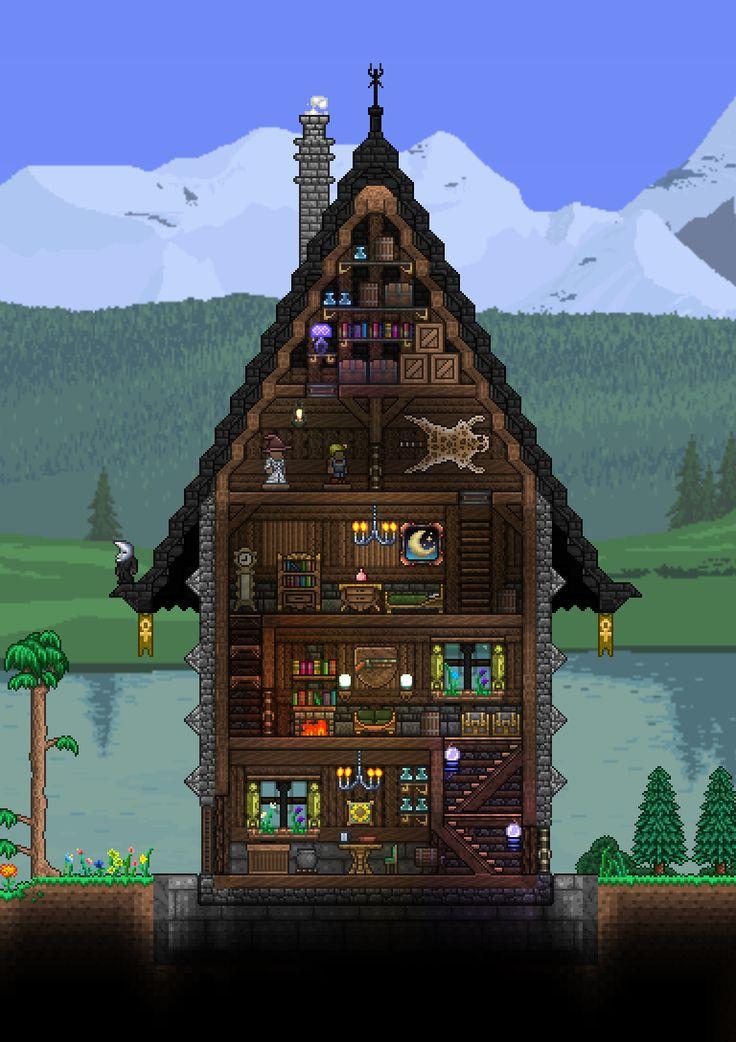Terraria Npc House Ideas: 407 Best Images About Terraria, House, Wallpaper On