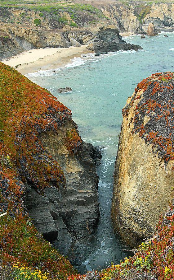 ✯ Lighthouse Beach - just north of Santa Cruz, California
