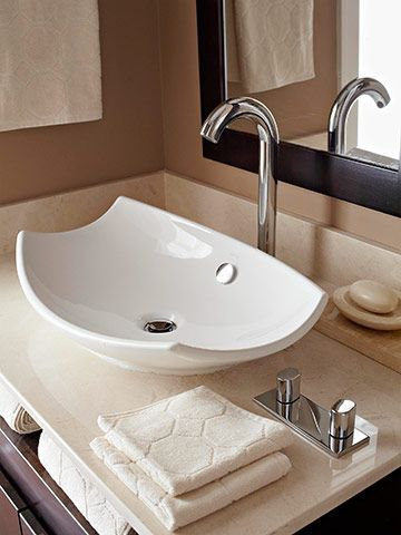 Create Spa Style with a Vessel Sink