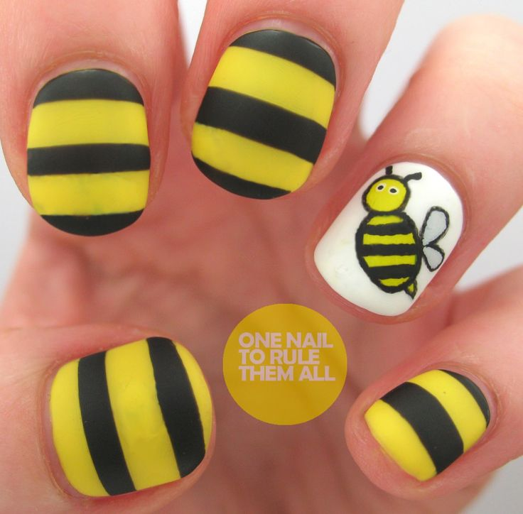 Best 25 bumble bee nails ideas on pinterest pencil nails nail art nail design one nail to rule them all then and now bumble bee prinsesfo Image collections
