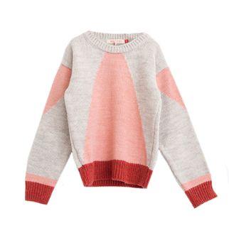 Bobo Choses Intarsia Jumper - Red/ Pink