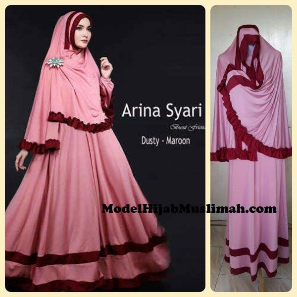 Baju Gamis Muslim Terbaru Model Arina