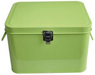 Blikken naaibox limoengroen - Welkom bij liel, een leuke webshop voor fournituren, ritsen, knopen...