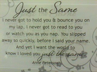 I loved you just the same :) I have this on my table at home :) @Kathy Scott