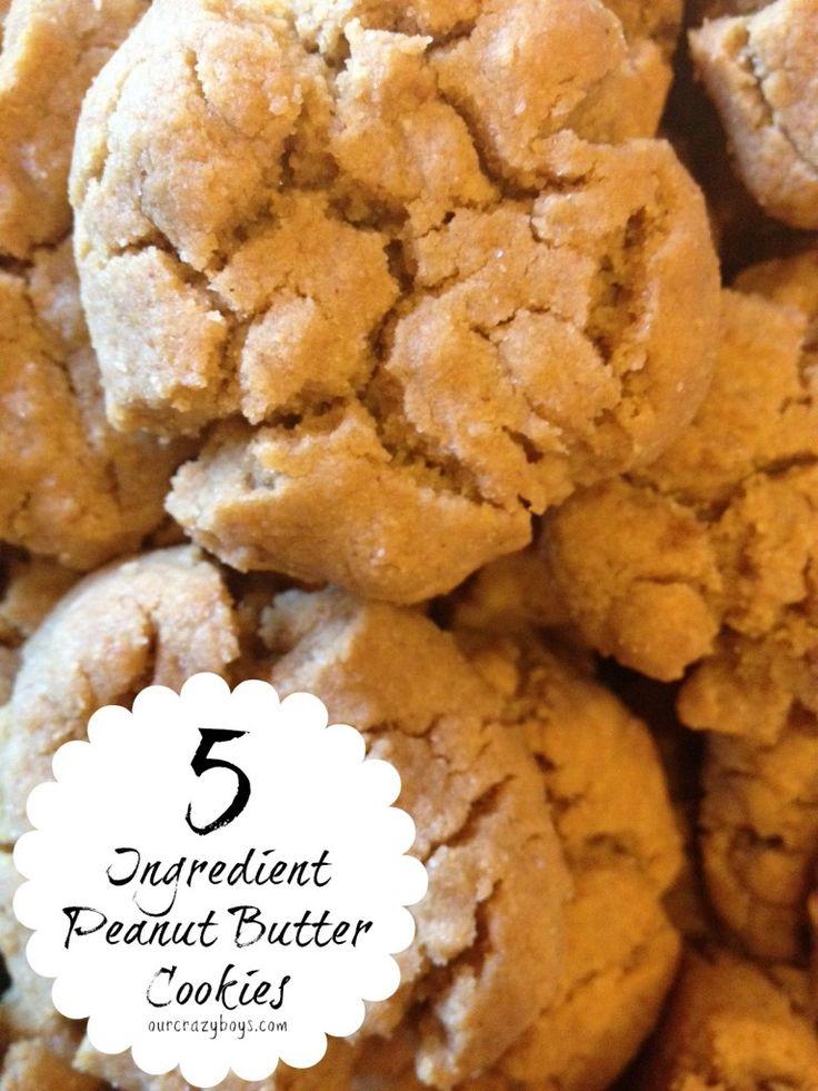 5 ingredient gluten free peanut butter cookies - gluten free