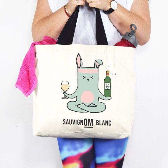 Yoga-tas grappige wijn citaat grappige Yoga door oflifeandlemons