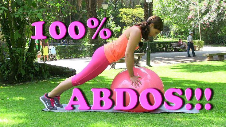 Quelques minutes d'abdos, exercices variés avec fitball.