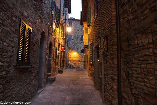 Medieval streets of Passignano Sul Trasimeno