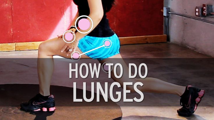 how to do lunges [xhit daily]
