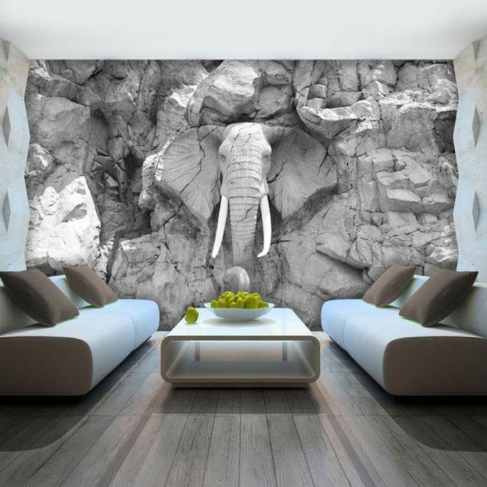 1001 Idees Pour Un Papier Peint Trompe L œil Les Decos Qui Produisent Des Grands Effets Poster Mural Geant Papier Peint Decoration Murale 3d