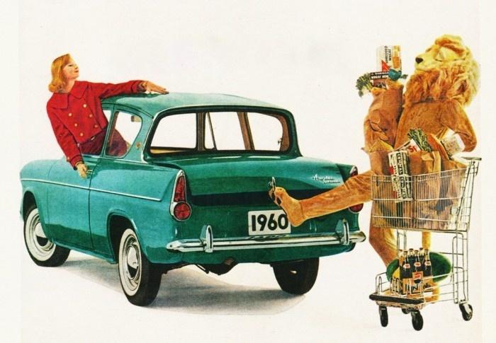 1960 British Ford Anglia Ad