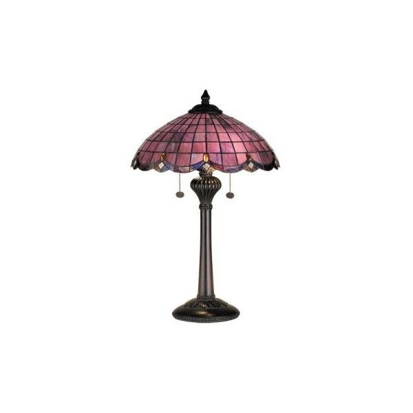 """24""""H Tiffany Victorian Elan Stained Glass Table Lamp ($297) ❤ liked on Polyvore featuring home, lighting, table lamps, lamps, furniture, decor, fillers, victorian table lamps, leaf table lamp and victorian stained glass"""